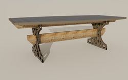 Trestle Conference Table - side