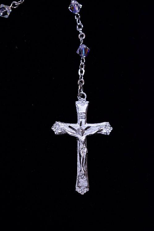 Crystal Swarovski Bead Rosary Boxed