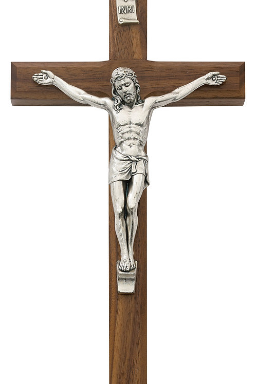 "10"" Wall Cross - Walnut"
