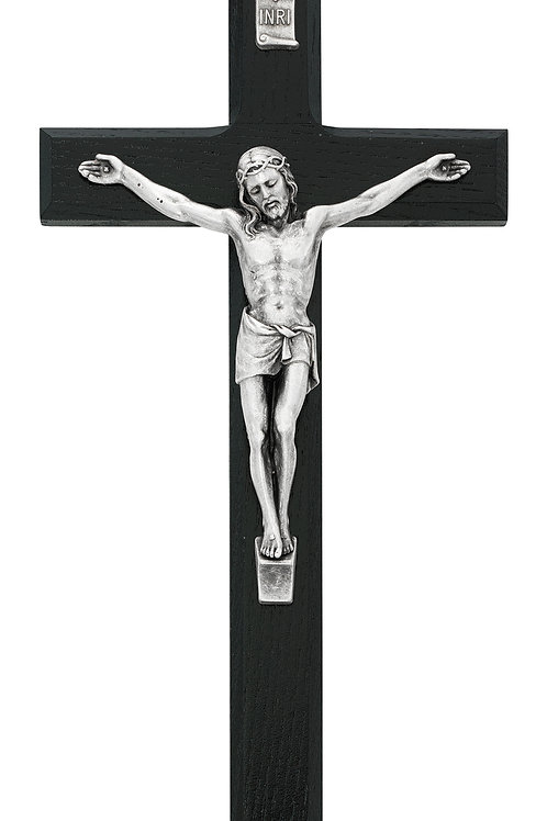 "10"" Wall Cross - Black"