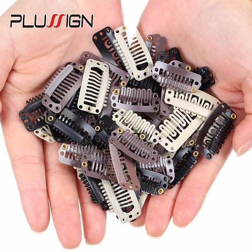 10-40 Pcs/Lot Rubber Wig Clips for Hair Extensions Brown Black Beige Wig Combs