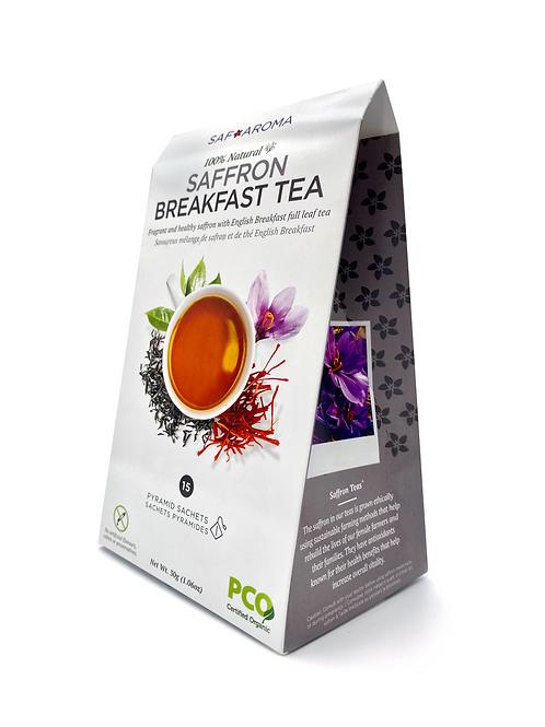 Saffron Breakfast Tea | Certified Organic