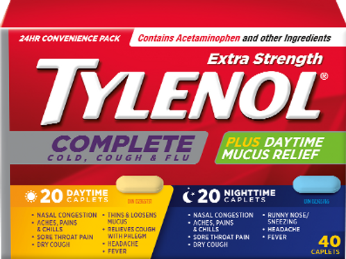 TYLENOL COMPLETE DAY/NIGHT TABS 40'S