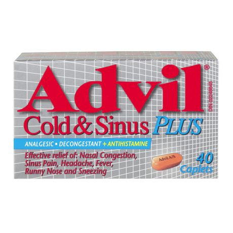 ADVIL COLD & SINUS PLUS 40'S