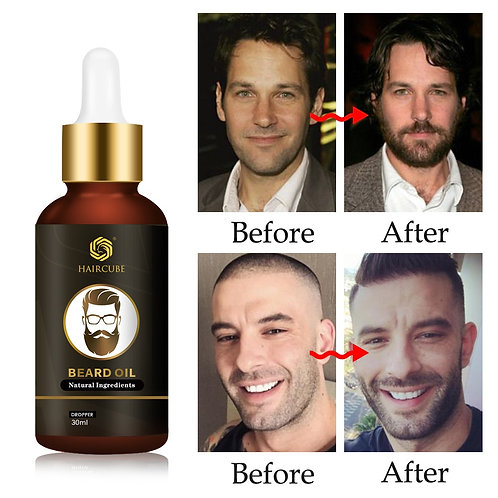 Beard Growth Oil Enhancer Natural Organic for Men Beard Growth Anti Hair Loss