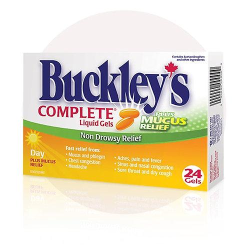 BUCKLEY'S CMPLT DAYTIME LIQ GELS PLUS MUCOUS RELIEF 24'S