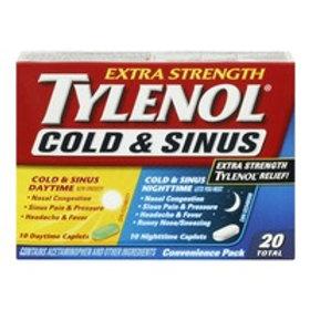 TYLENOL COLD & SINUS DAY/NIGHT X-STR CAPLETS 20'S