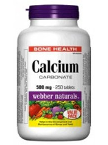WEBBER CALCIUM CARB 500MG TABS 250'S