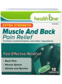 H ONE MUSCLE AND BACK XSTR TABS 18'S