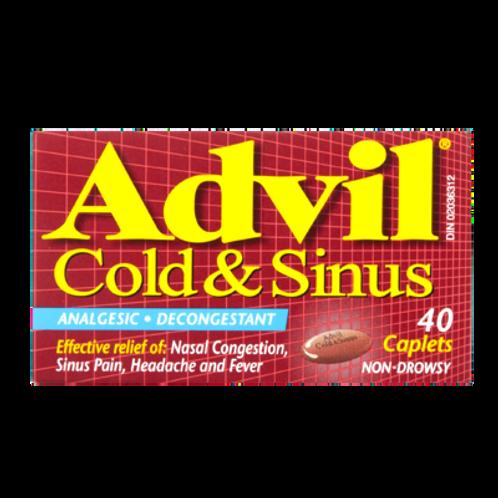 ADVIL COLD & SINUS CPLT 40'S