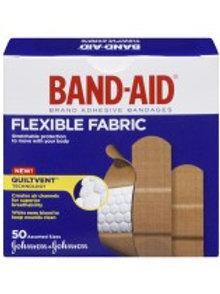 J&J BAND-AID FABRIC BANDAGES 50'S