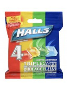 HALLS COUGH DROPS ASST 4'S