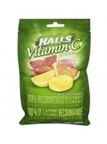 HALLS BAG DEFENSE VIT C ASST CITRUS 30'S
