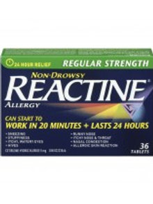 REACTINE TABS REG 36'S