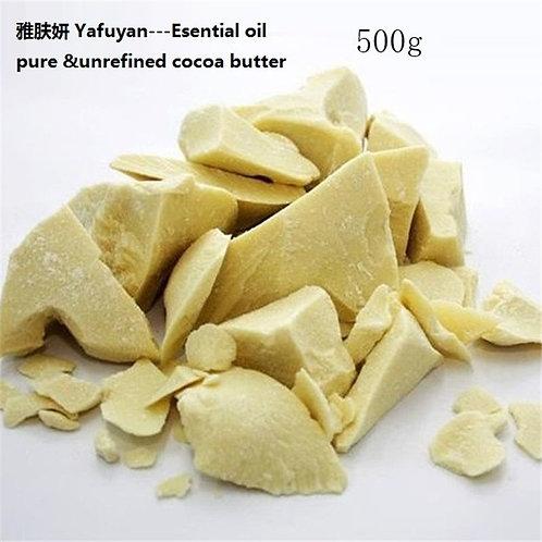 Organic 500g Pure Cocoa Butter  Ounces Raw Unrefined Cocoa Butter Base