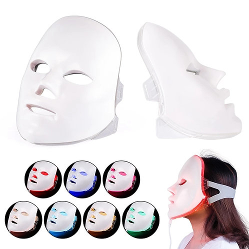 LED Facial Mask Beauty Skin Rejuvenation Photon Light 7 Colors Mask Therapy