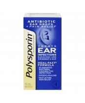 POLYSPORIN PLUS PAIN EAR DROPS 15ML