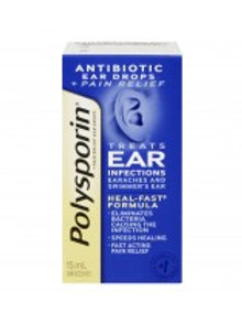POLYSPORIN PLUS PAIN EAR DROPS 15ML