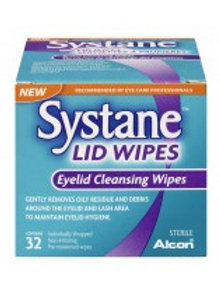SYSTANE LID WIPES 32'S