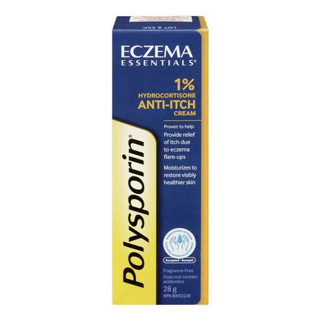 POLYSPORIN ECZEMA 1% ANTI-ITCH CREAM 28G