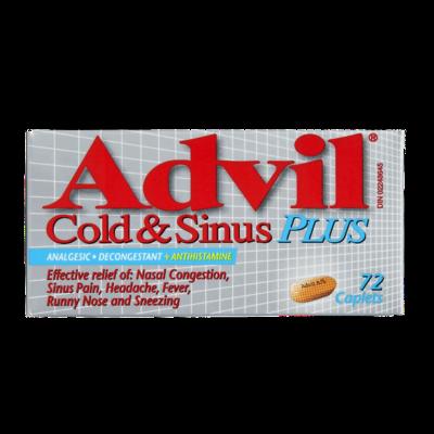 ADVIL COLD & SINUS PLUS 72'S