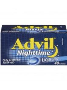 ADVIL NIGHTTIME LIQUI-GELS 40'S