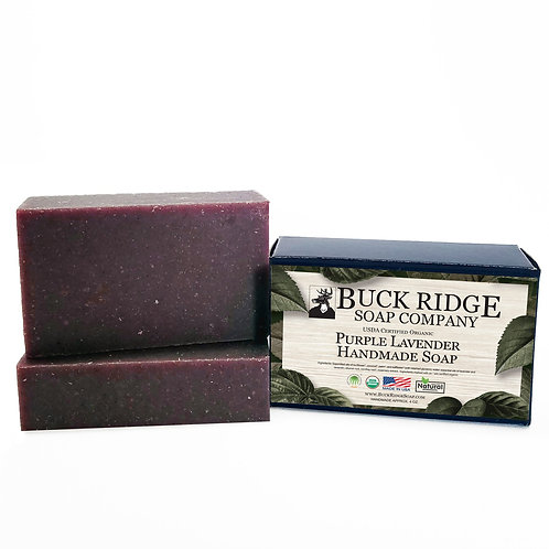 Purple Lavender Handmade Soap - USDA Certified Organic
