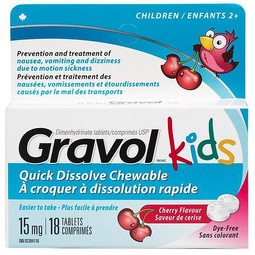 GRAVOL TABS KIDS 15MG 18'S