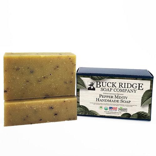 Pepper Minty Handmade Soap - USDA Certified Organic