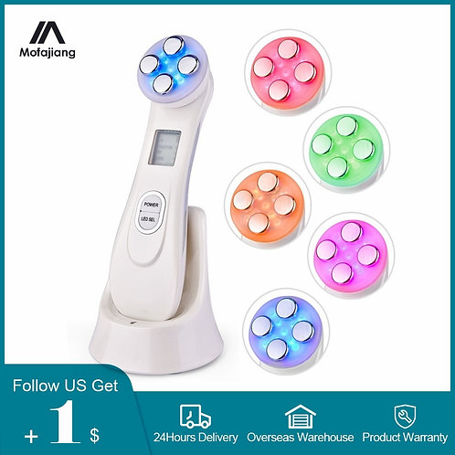 Anti Aging Radiofrequency Mesotherapy 5 in 1 LED Skin Tightening RF&EMS Face