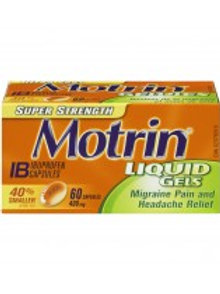 MOTRIN IB LIQUID GELS SUP-STR 400MG 60'S