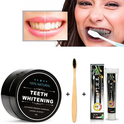 Natural Organic Activated Teeth Whitening Charcoal Powder Bamboo Charcoal