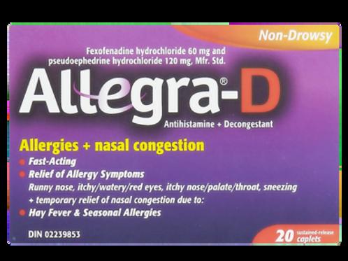 ALLEGRA-D 60MG 30'S