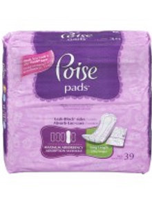 POISE MAX LONG PADS 39'S