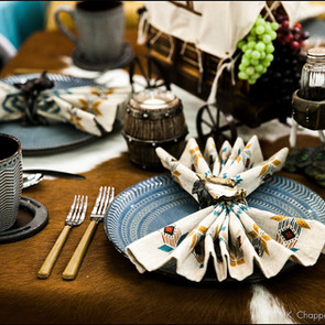 Old West Themed Table Setting