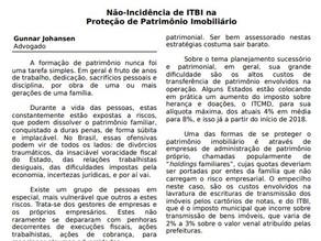 Não-Incidência de ITBI na Proteção de Patrimônio Imobiliário