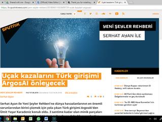 ArgosAI news in Sputnik Turkey / ArgosAI Sputnik Türkiye'de