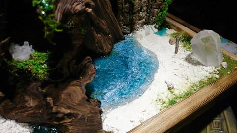 水晶の島の風景