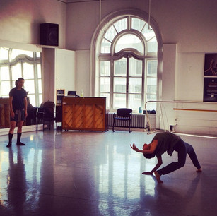 Cora Cliburn in rehearsal with choreographer Liu Yi-Feng (LDTX, Beijing, China) at Alonzo King LINES Ballet.