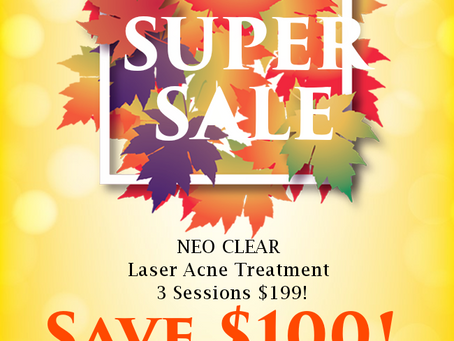 BACK TO SCHOOL SUPER SALE! Stop suffering with acne! #noregrets #acnefree #aerolase