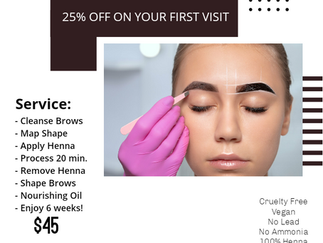 NEW! HENNA BROWS!