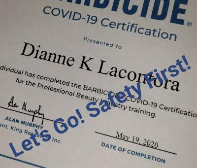 Barbicide- COVID 19 - Certification!