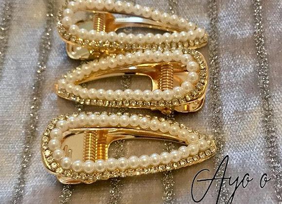Pearl & Diamanté Hair Slides