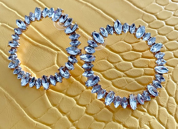 Circle Rhinestone Earrings