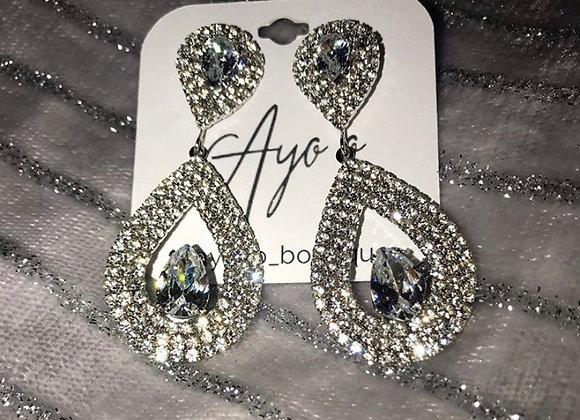 Diamanté Dangle Earrings