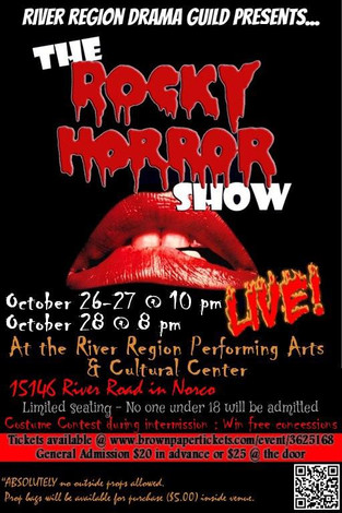 PAST EVENT: See the Rocky Horror Show Oct. 26-28