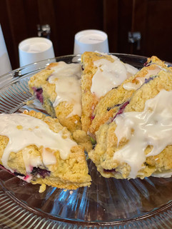 Our lemon blueberry scones are soft, fresh, and pair perfectly with a great cup of coffee.