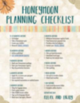 Honeymoon Planning Checklist