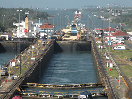 Scenic view of Panama Canal