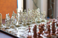 Challenge your companion to a friendly game of chess as you enjoy your coffee.
